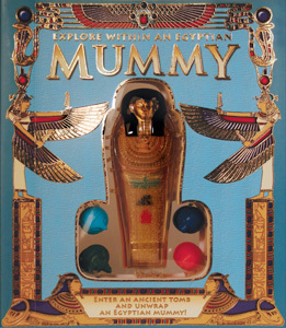 There's a model of a mummy embedded in the book!